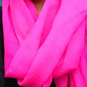 Juicy Couture Lightweight Wool Studded Scarf